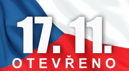Sobota 17.11.2018 - OTEVŘENO